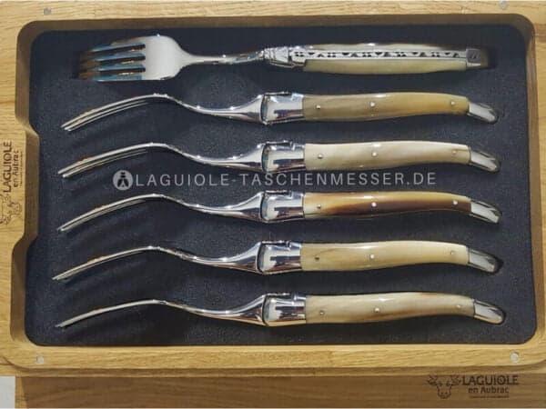 laguiole en aubrac gabel-set griff hornspitze