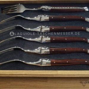 laguiole en aubrac gabel-set schlangenholz und besteck