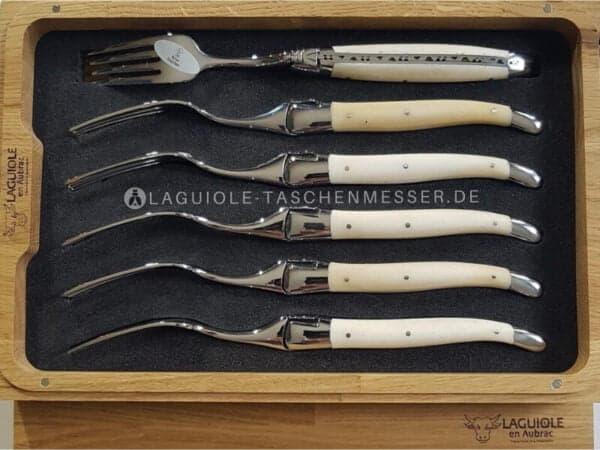 laguiole en aubrac griff knochen gabeln-set
