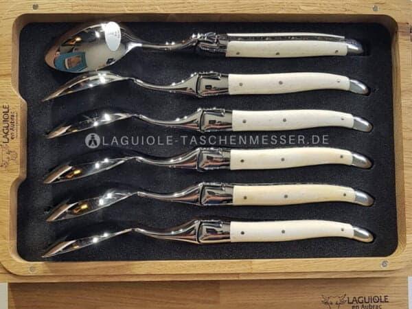 laguiole en aubrac griff knochen suppenloffel-set