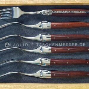 laguiole en aubrac schlangenholz gabel-set