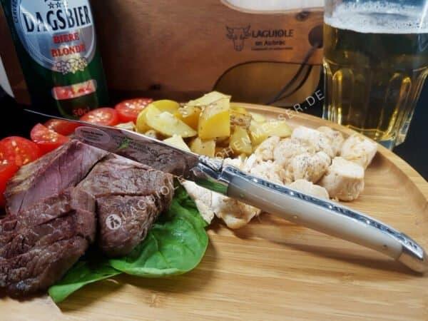 laguiole en aubrac steakmesser hornspitze