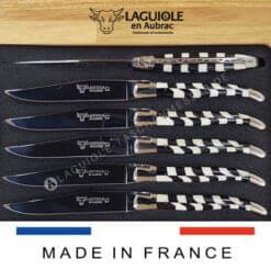 laguiole en aubrac steakmesser intarsien ebenholz und knochen