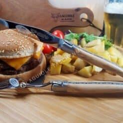 laguiole en aubrac steakmesser set 6tlg olivenholz