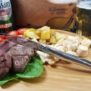 laguiole en aubrac steakmesser stahl hochglanz glanzend