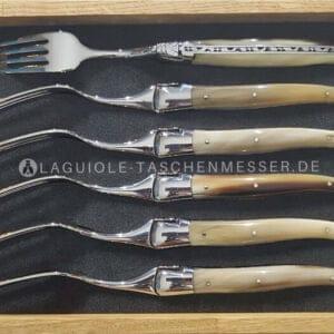 laguiole gabel-set griff hornspitze