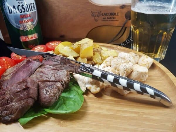 laguiole steakmesser 6-tlg intarsien ebenholz und knochen