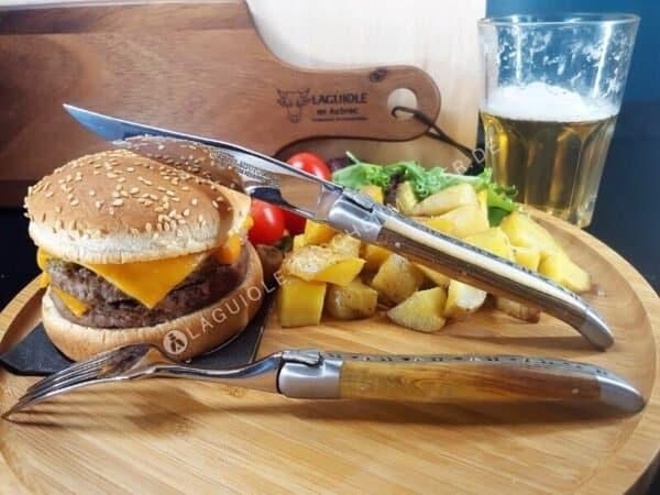 laguiole steakmesser 6tlg pistazienholz