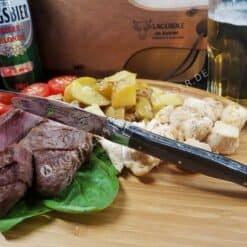 laguiole steakmesser buffelhorn kruste