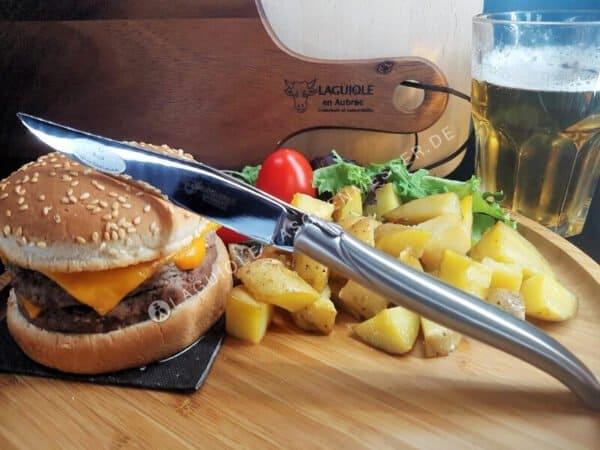 laguiole steakmesser mit stahl hochglanz matt