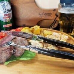 laguiole steakmesser set griff ebenholz