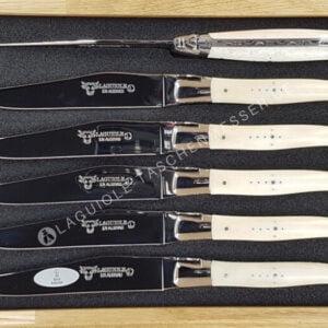 laguiole steakmesser set griff knochen