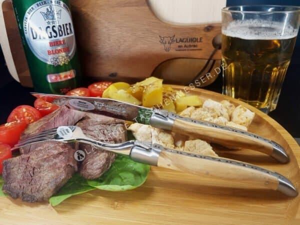 laguiole steakmesser set griff olivenholz