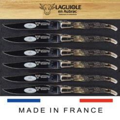 laguiole steakmesser set widder kruste