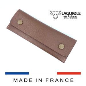 luxus bicolor leder gurteletu fur messer und kellnermesser