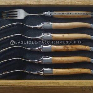 original laguiole en aubrac gabel-set wacholder und laguiole besteck