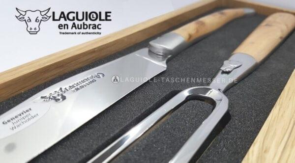 original laguiole en aubrac tranchierbesteck wacholder