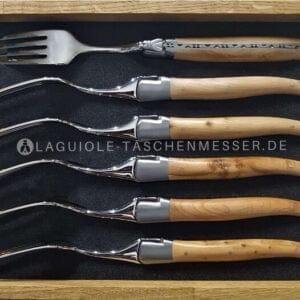 original laguiole gabel-set wacholder und laguiole en aubrac besteck