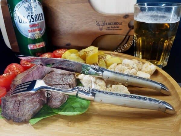 original laguiole steakmesser 6-tlg hornspitze