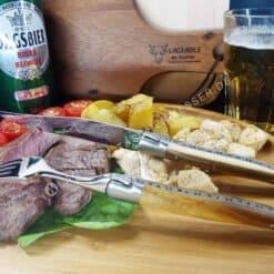 original laguiole steakmesser 6tlg pistazienholz