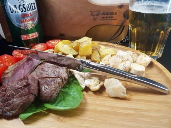 original laguiole steakmesser monobloc stahl hochglanz glanzend