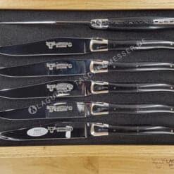 original laguiole steakmesser set griff ebenholz