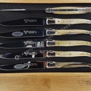 original laguiole steakmesser set hornspitze