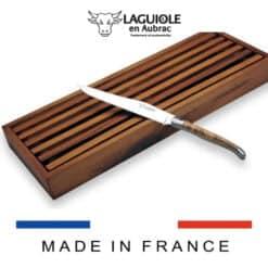 laguiole brotmesser set mit brotbrett aus akazienholz