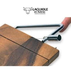 laguiole kasemesser mit akazienholz-platte