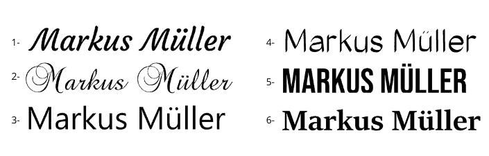 gravur typografie laguiole gravur