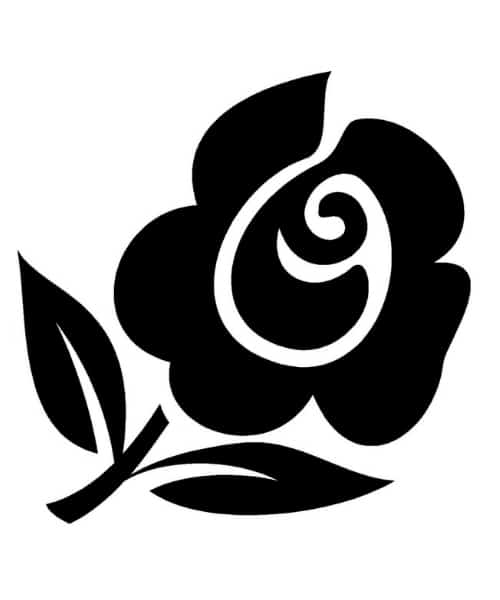 lasergravur rose